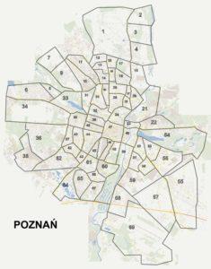 Mapa Poznania
